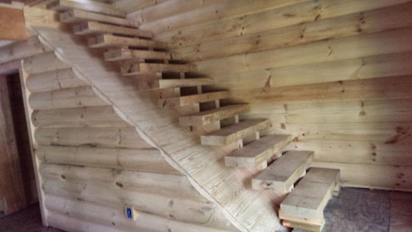 Timber Slab Stairs